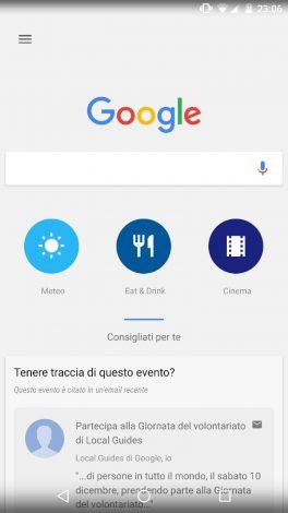 Google Now icone circolari aw