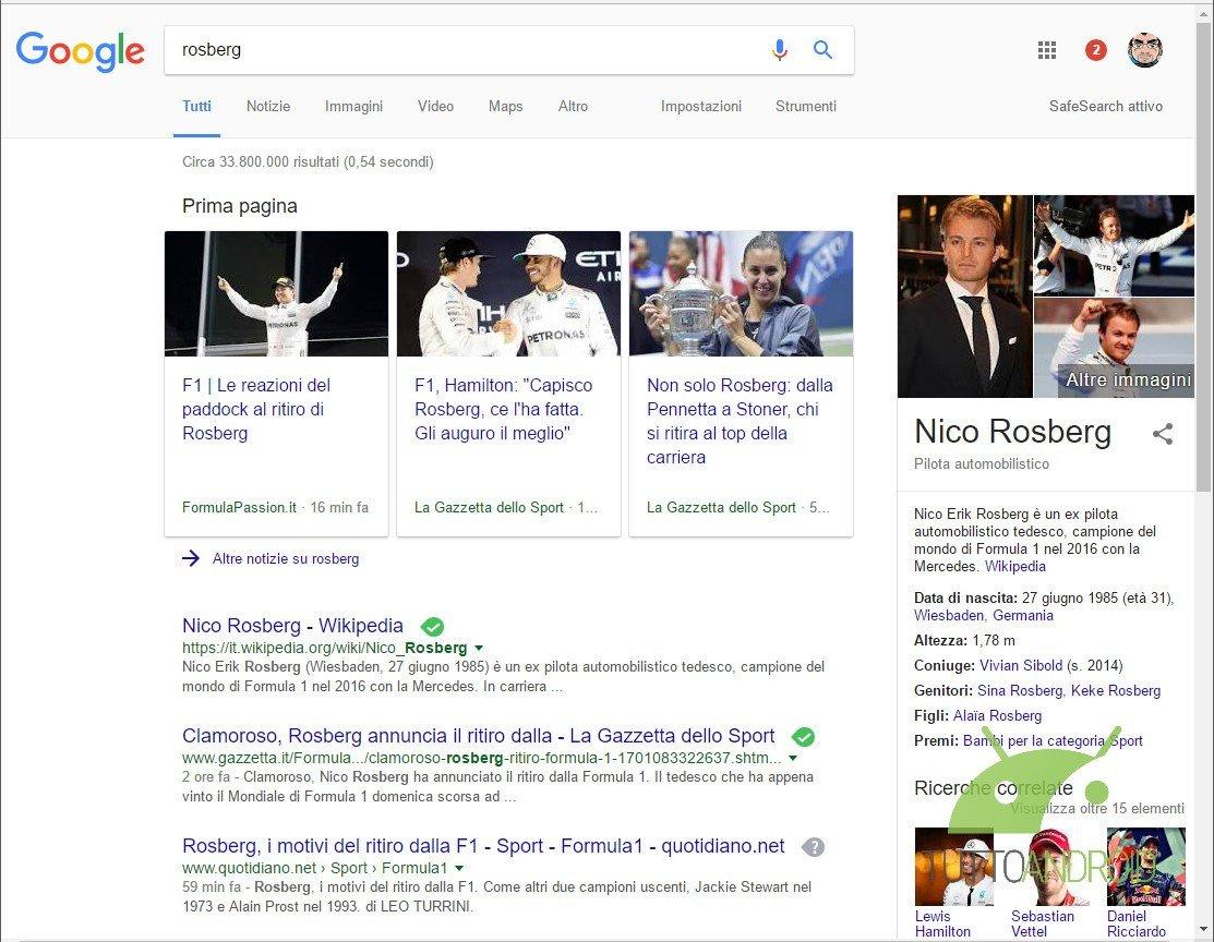 Google sta testando il material design della propria pagina di ricerca desktop tutto android - Google home page design ...