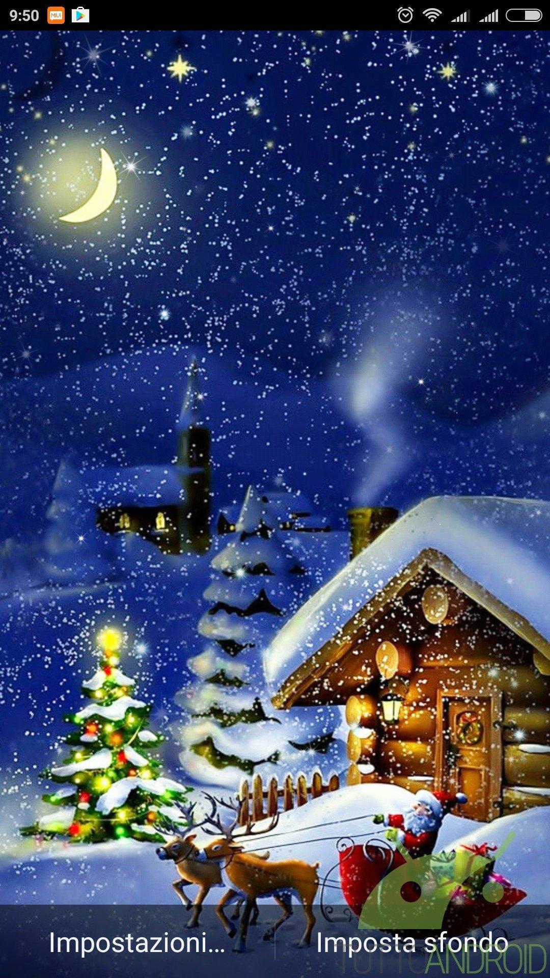 Sfondi Natalizi Animati.Notte Di Natale Sfondi Animati Offre Live Wallpaper Di