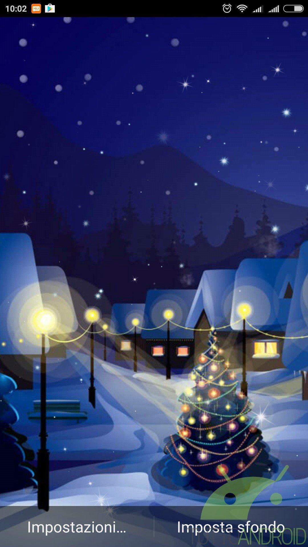 Animati Sfondi Natalizi.Notte Di Natale Sfondi Animati Offre Live Wallpaper Di