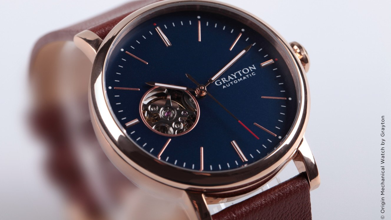 Grayton Origin è un orologio meccanico con cinturino intelligente