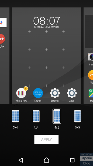 Xperia Home Beta dicembre4