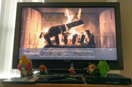 Chromecast fireplace visualizer christmas