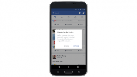 Facebook sharing disputed story
