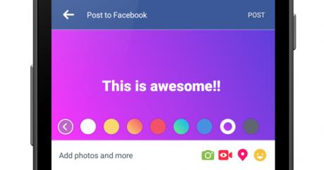 Facebook status color