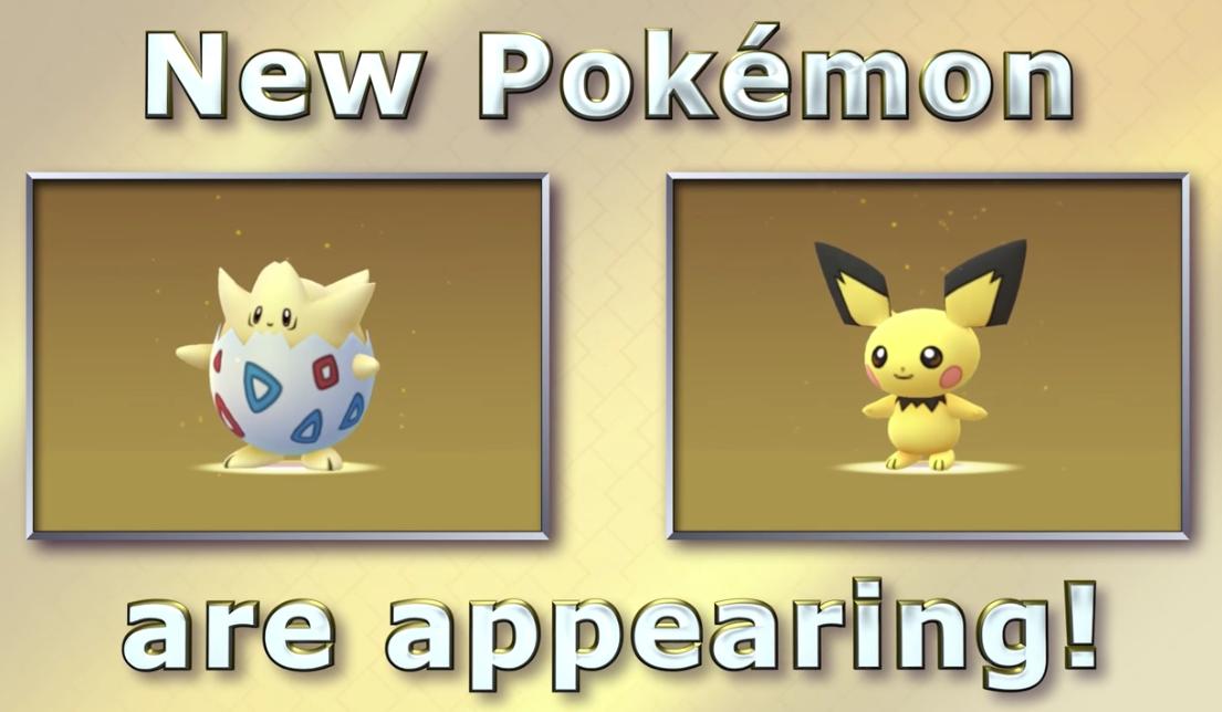 Pokémon GO: arrivano le prime creature di seconda generazione