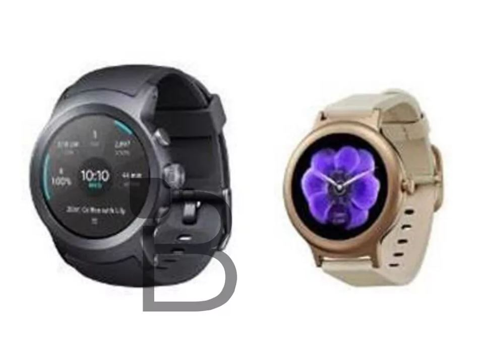 LG Watch Sport e LG Watch Style appaiono in una prima immagine