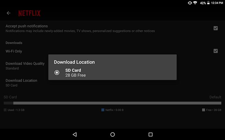 Netflix su Android, lo show di Grillo lo metto sulla SD card