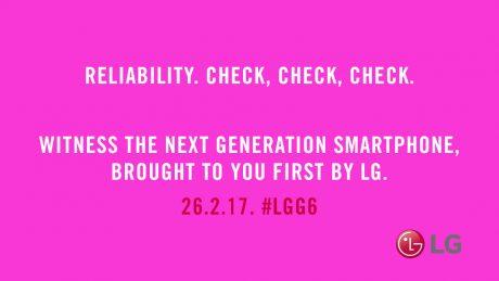 LG G6 teaser affidabilita