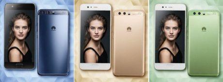 Huawei p10 blu oro verde