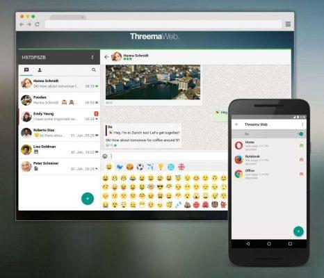 Threema ora possiede un suo client Web, simile a quello di WhatsApp