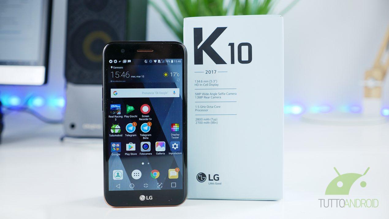 Recensione LG K10 2017: il compitino che potrebbe non ...