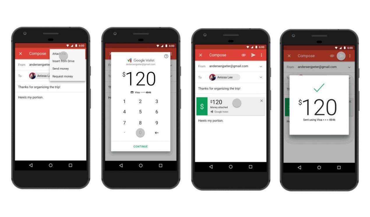 Inviare denaro con Gmail si può