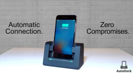 AutoDock |  tecnologia e stile per ricaricare lo smartphone
