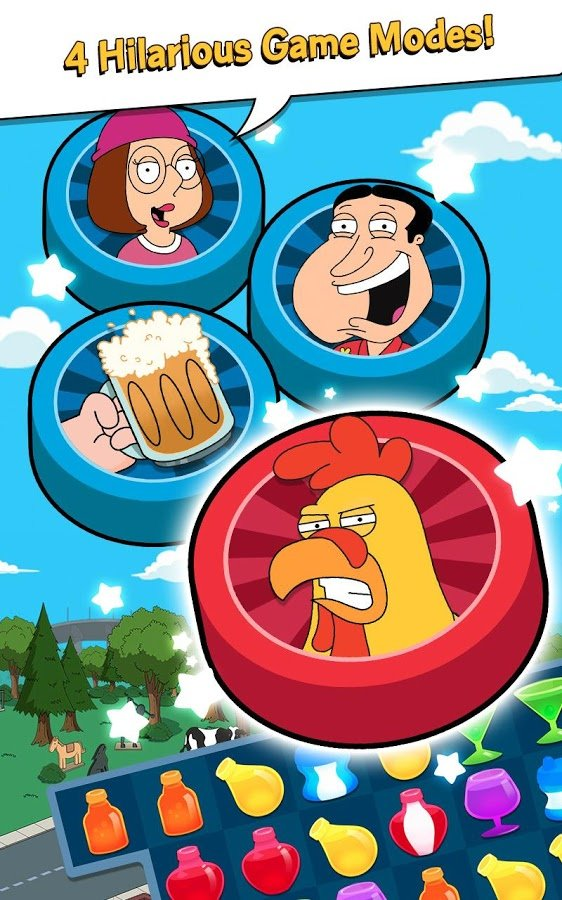 Family guy freakin mobile game è un match con i