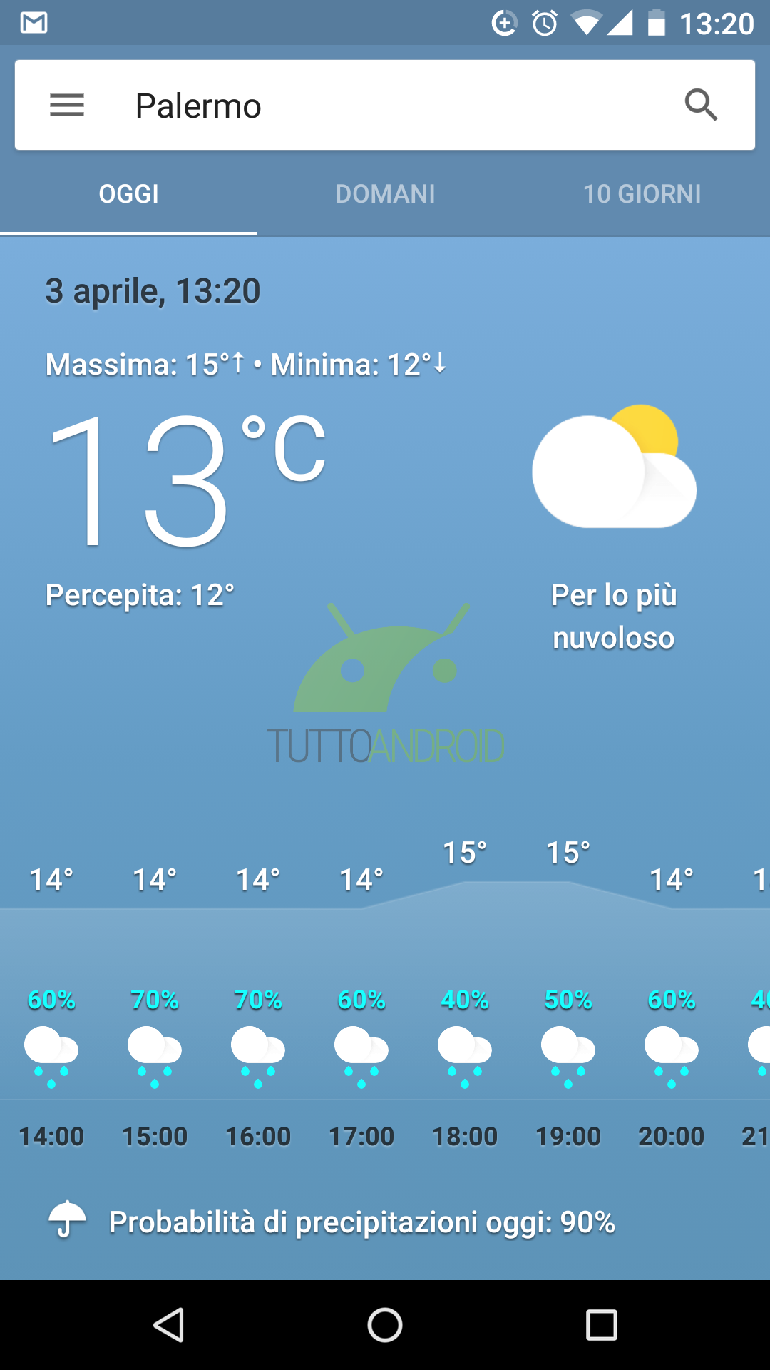 ora potete accedere di nuovo al meteo di google dalla home tuttoandroid. Black Bedroom Furniture Sets. Home Design Ideas