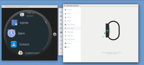 Android wear digital 0crown emulator