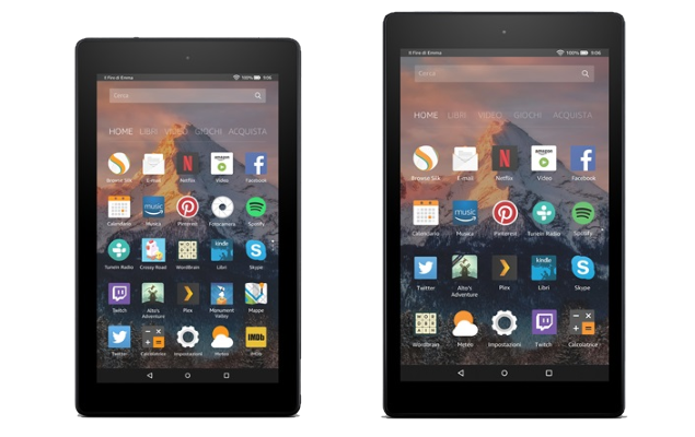 Amazon, in arrivo due nuovi tablet: Fire 7 e Fire HD 8