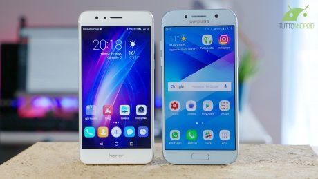 Galaxy A5 vs Honor 8 copertina