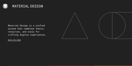 Material design website