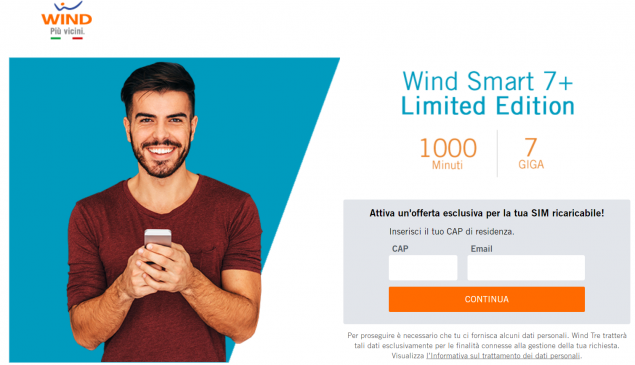 Smart 7+ Limited Edition: La nuova offerta Wind
