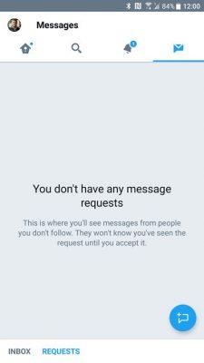 richiesta messaggi diretti twitter