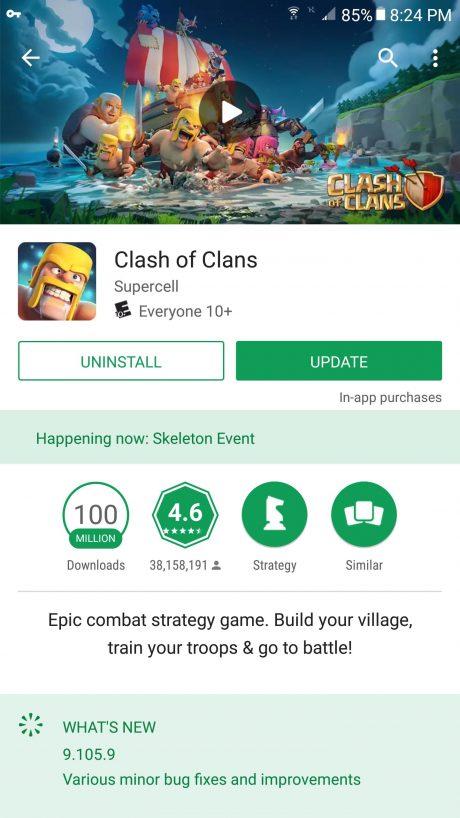 Google Play Store eventi giochi