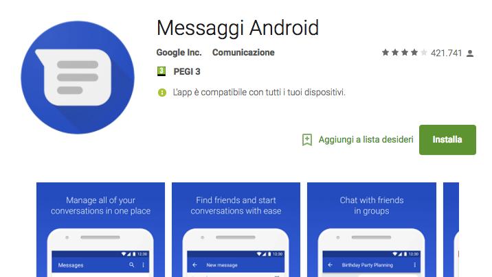 Bien connu Messaggi Android introduce alcune novità con la terza Developer  RN77