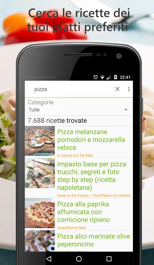 le ricette pubblicate dai migliori siti di cucina con l'app trova ... - I Migliori Siti Di Cucina