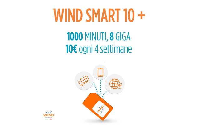Promozione Wind: Smart 7 vi offre 1000 minuti e 15GB in 4G!