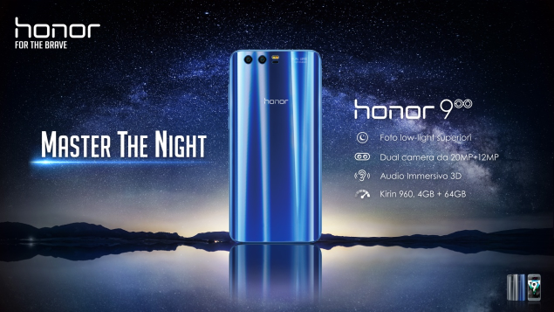 Honor 9 disponibile in Europa. Prezzo €449