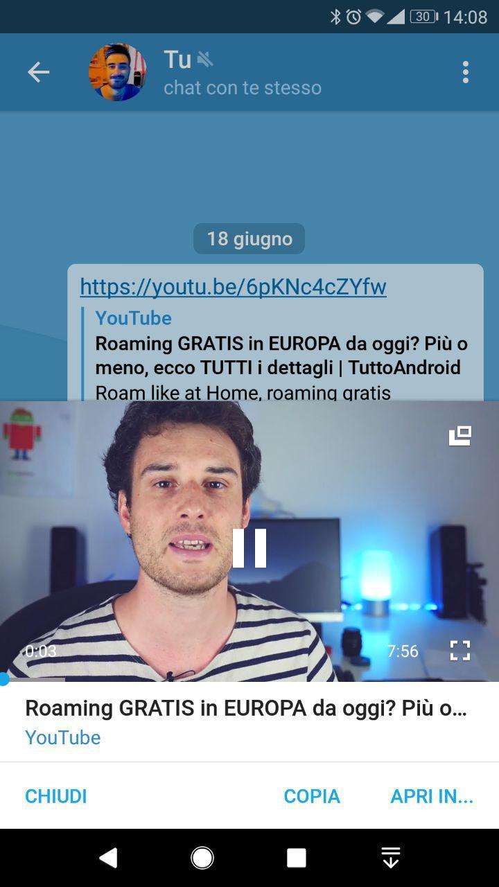 Telegram Permette Di Riprodurre Video Di YouTube In