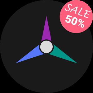 Durgon – Icon Pack offre migliaia di icone circolari a tema scuro