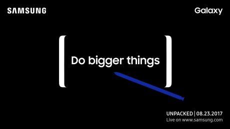 È ufficiale: Samsung Galaxy Note 8 sarà presentato il 23 agosto