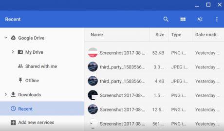 Chrome Canary Recent Folder