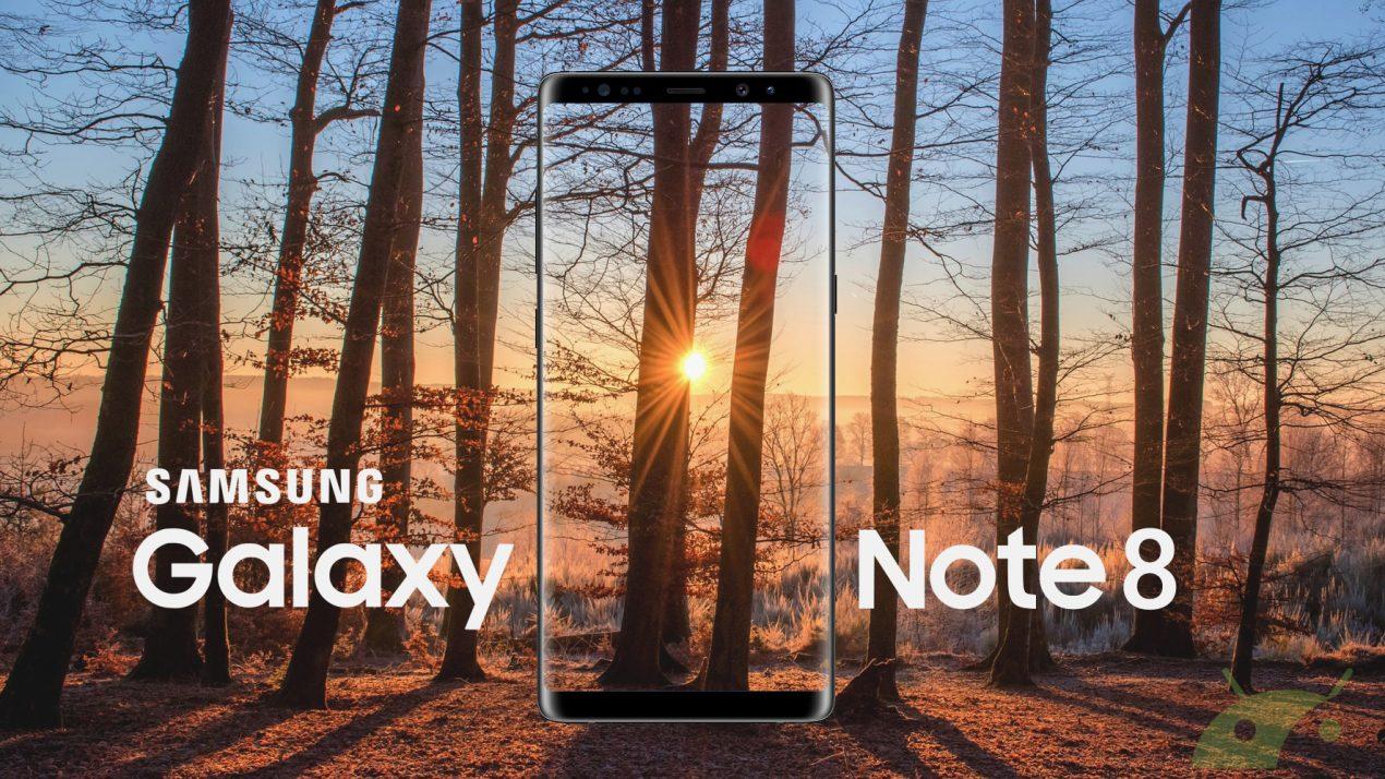 Galaxy Note 8: lo schermo sarà sensibile alla variazione di pressione