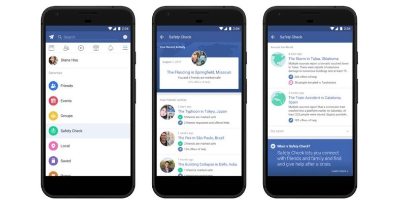 Facebook migliora la feature Safety Check