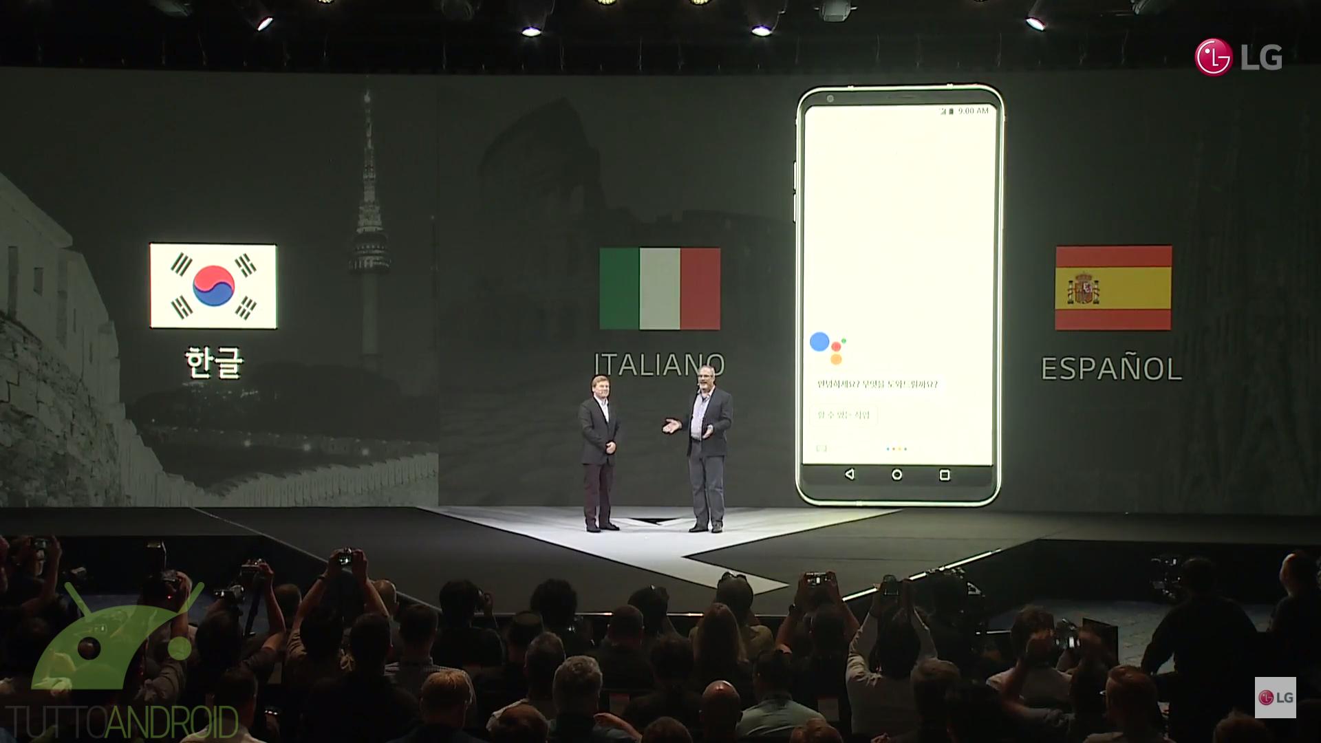 Google assistant arriva in lingua italiana a partire da lg v30 tuttoandroid for Google assistant italia
