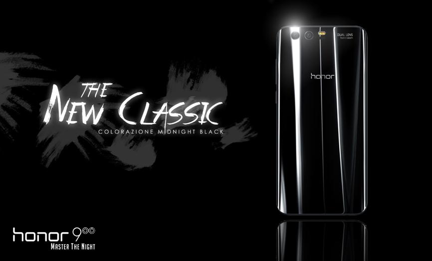 Honor 9 è ora disponibile nella colorazione Midnight Black