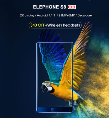 The promotional sale ofElephone S8, the new three-inch bezel less smartphone from China,has started today, onGearBest, the well-known online store.