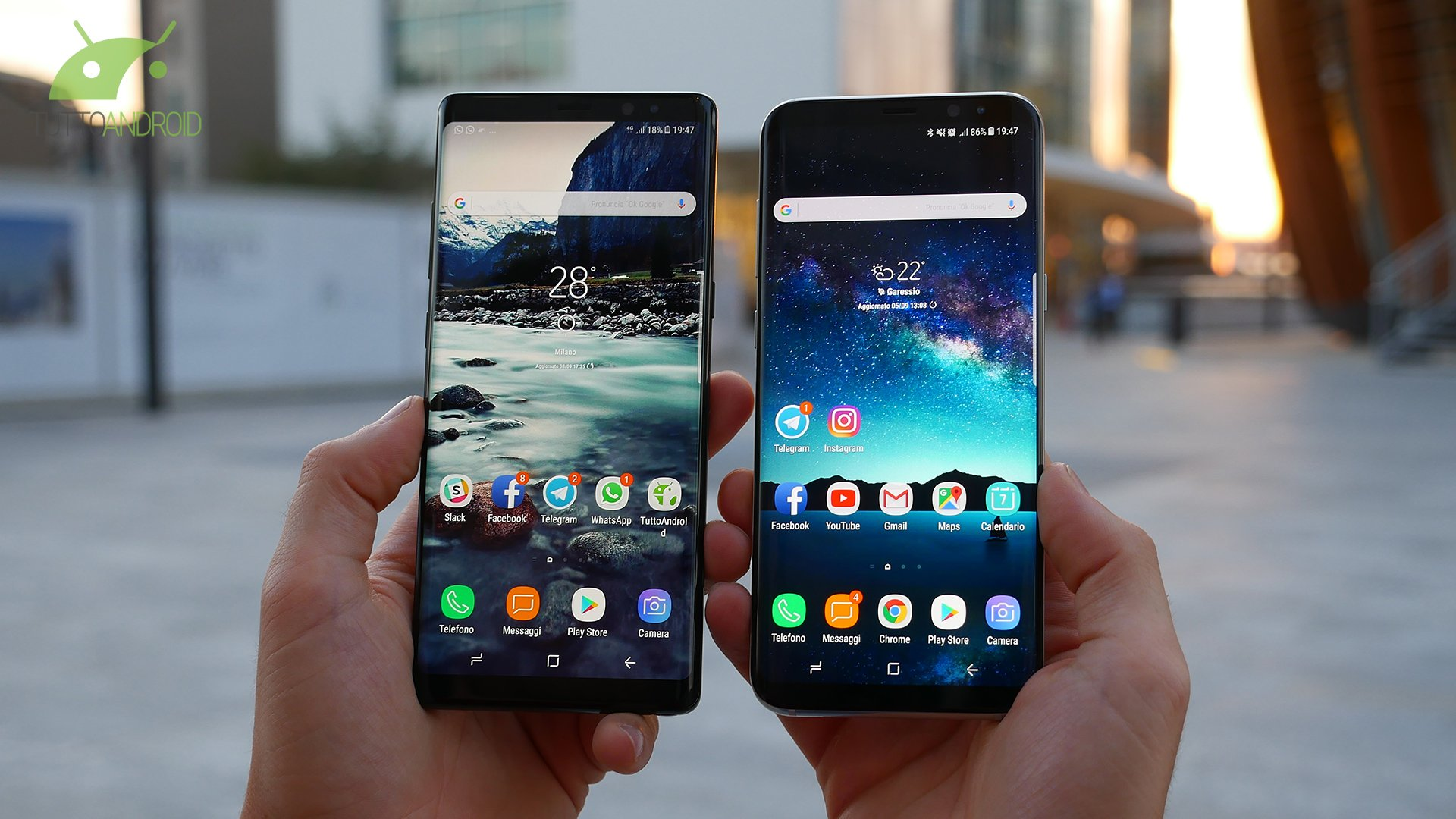 Samsung Galaxy Note 8 vs Samsung Galaxy S8+