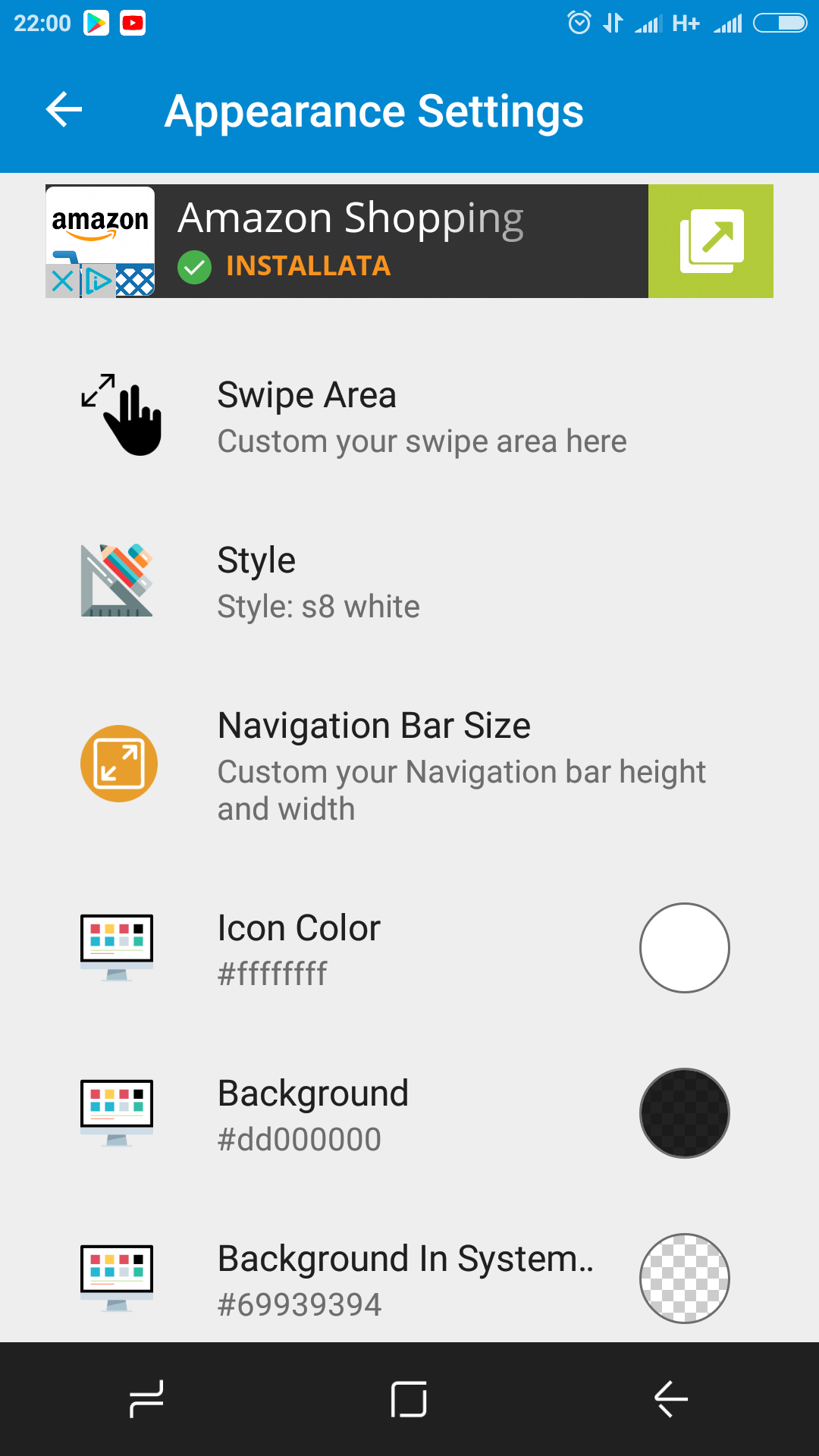 how to turn on navigation bar on note 8