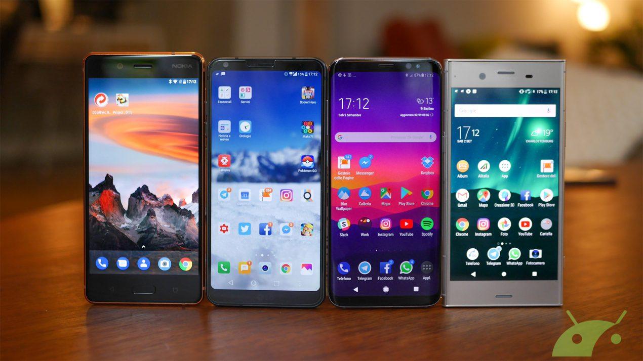 Nokia 8 Sfida Galaxy S8 Lg G6 E Sony Xperia Xz1 Nel