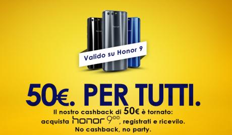 Honor 9 Cashback 50 euro