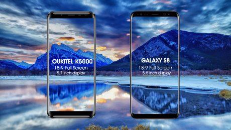 K5000 vs S8 display