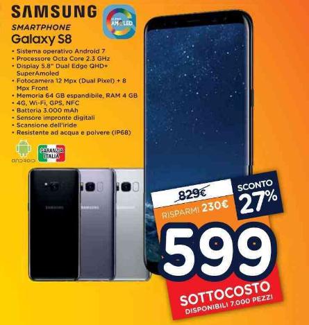 Galaxy s8 a 599 euro e molto altro nel nuovo volantino - Unieuro porta tv ...