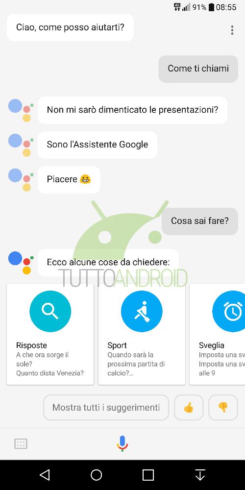 Google assistant arrivato in italia partito il lento roll out in lingua italiana tuttoandroid for Google assistant italia