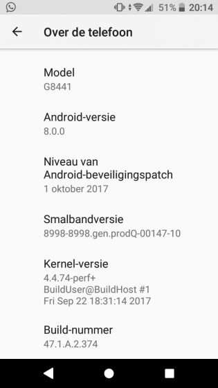 Sony Xperia XZ1 and XZ1 Compact firmware