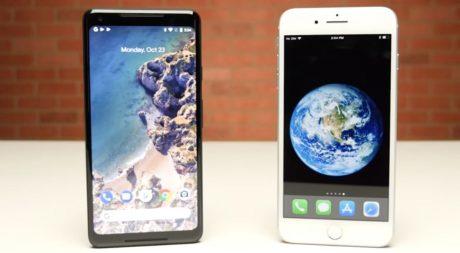 Google pixel 2 xl vs iphone 8 plus e1508911701432