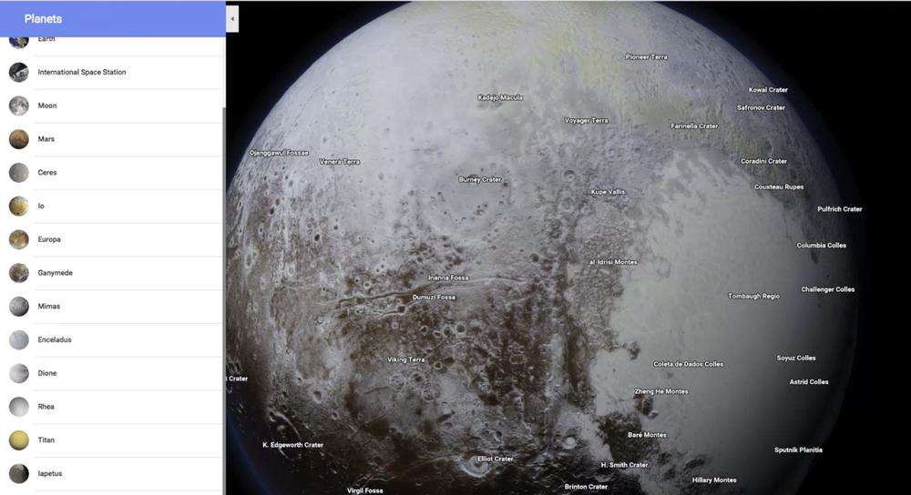 Google Maps permette di esplorare anche la Luna e altri pianeti